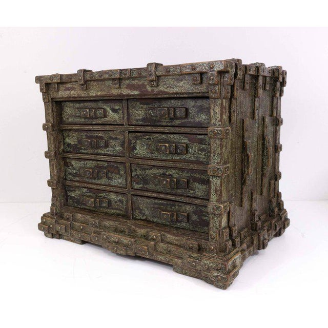 Impressive Brutalist Art Drawer Cabinet With a Beautiful Patina, Signed Ar-bo - Image 2 of 9