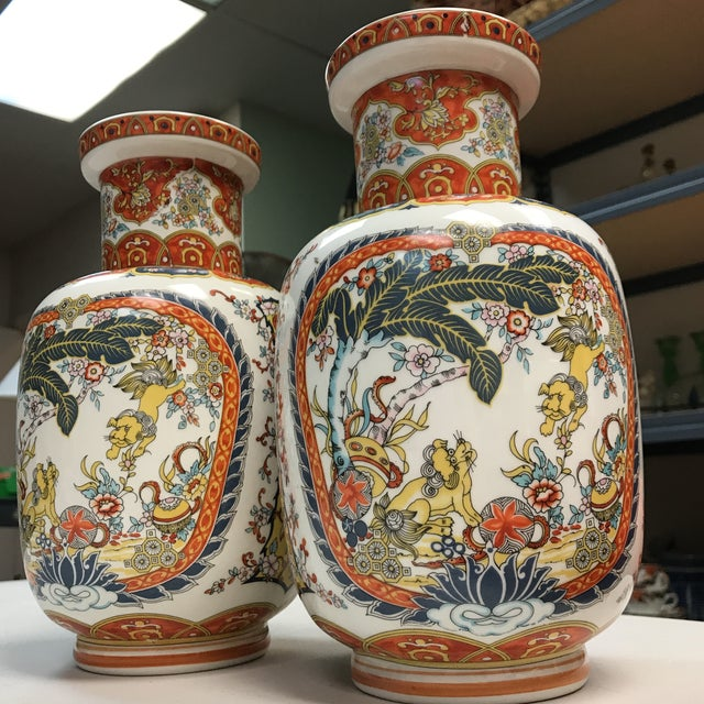 Ardalt Chinoiserie Hand Painted Vases - A Pair For Sale - Image 10 of 10