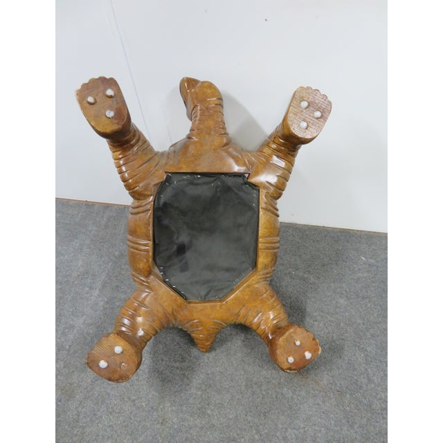 Carved Sea Turtle Ottoman For Sale In Philadelphia - Image 6 of 7