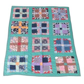 Vintage Nine Patch Quilt For Sale