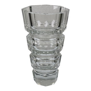 Czech Bohemian Crystal Vase For Sale