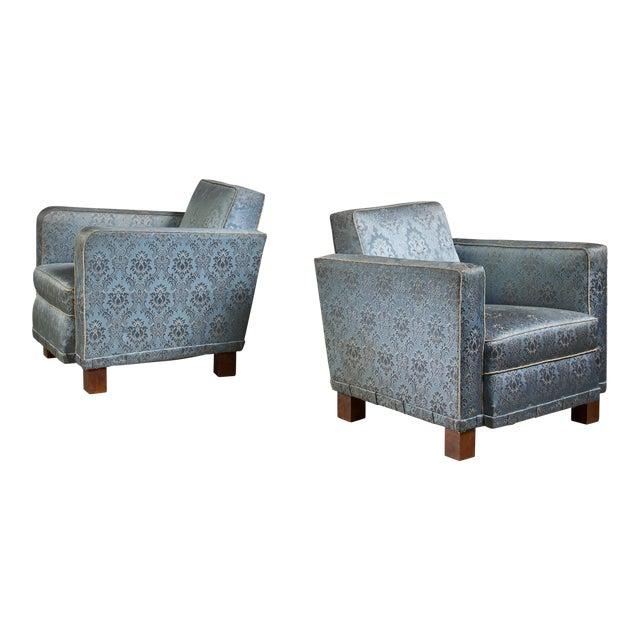 Bjorn Tragardh Pair of Easy Chairs for Svenskt Tenn, 1930s For Sale