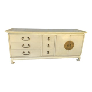 Kent-Coffey Ivory 9-Drawer Dresser Chest, Amerasia Collection For Sale