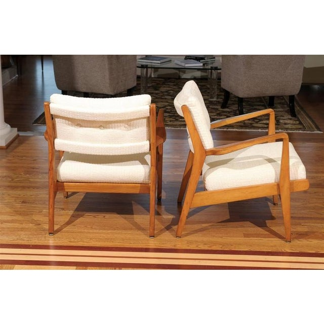 Restored Pair of Maple Loungers by Jens Risom For Sale In Atlanta - Image 6 of 10