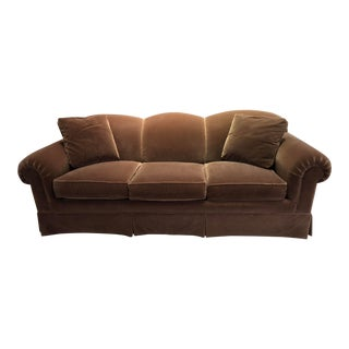 Vintage Isenhour Traditional Sable Mohair Sofa For Sale