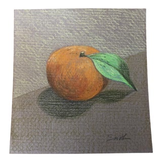 """Nancy Smith """"Tangerine"""" Original Colored Pencil Drawing For Sale"""