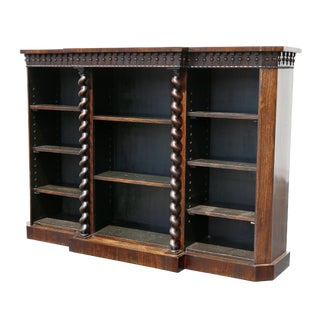 Early Victorian Rosewood Bookcase For Sale