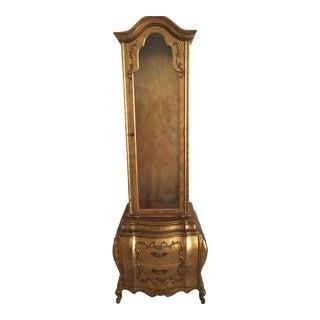 Antique Gold Curio Cabinet