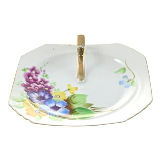 Last Call! 1940s Purple Floral Tray For Sale