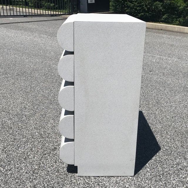 1980s Modern Curvaceous Sculptural Laminate Highboy Dresser For Sale - Image 4 of 11