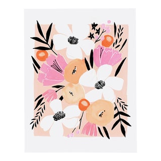 Pink Floral Bouquet II Print