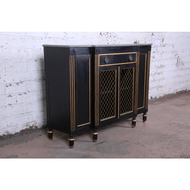 Neoclassical Baker Furniture Neoclassical Sideboard Credenza or Bar Cabinet For Sale - Image 3 of 12