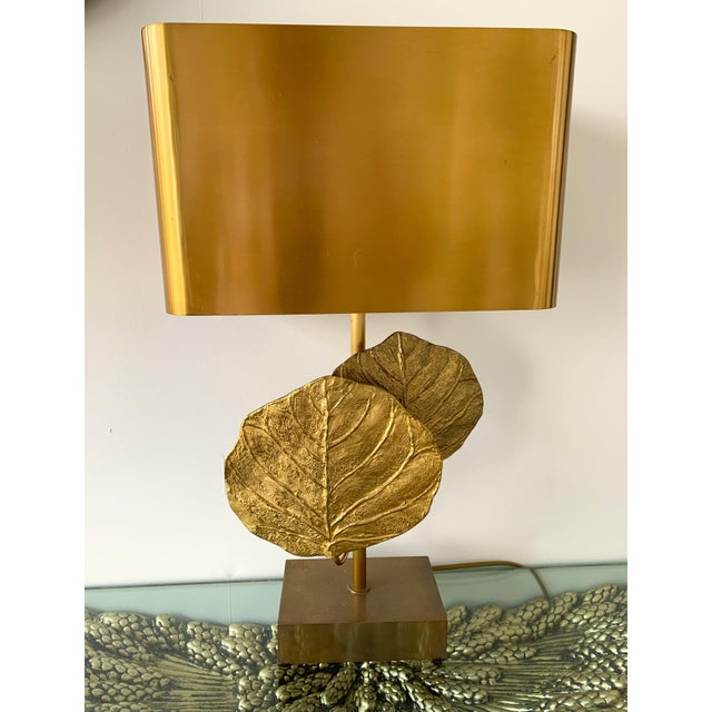 French Pair of Lamps Guadeloupe by Maison Charles, Bronze, 1970s, France For Sale - Image 3 of 13