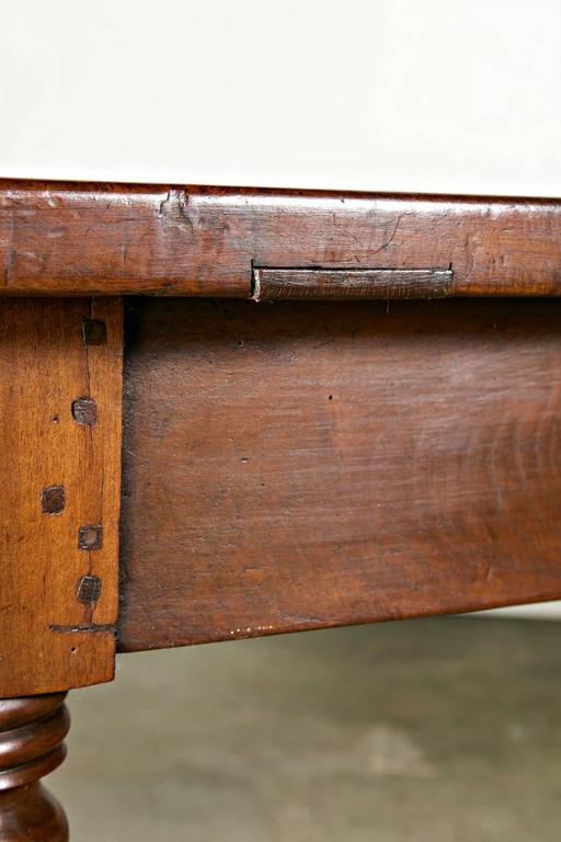 Large 19th Century French Louis Philippe Period Walnut Farm Table   Image 8  Of 10