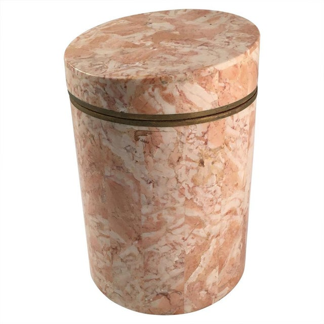 Vintage 1970s Maitland-Smith Stone Canister - Image 1 of 7