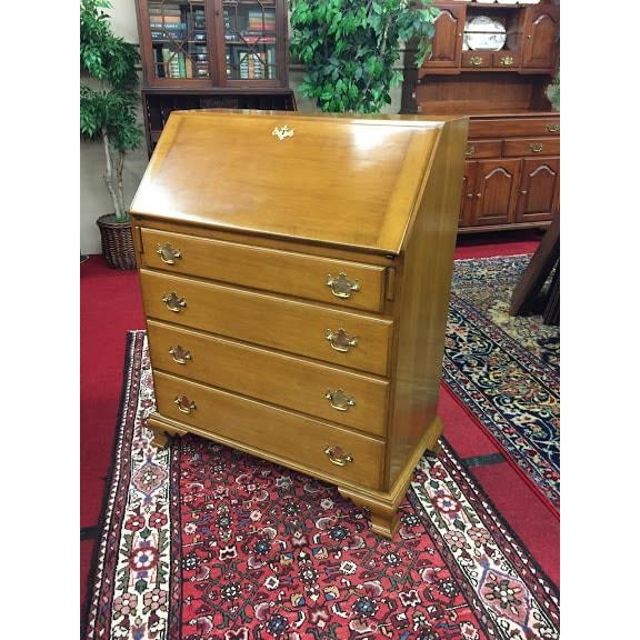 Beals Maple Secretary Desk with slant front desk. This beautiful rock maple desk has four drawers as well. Of course it...