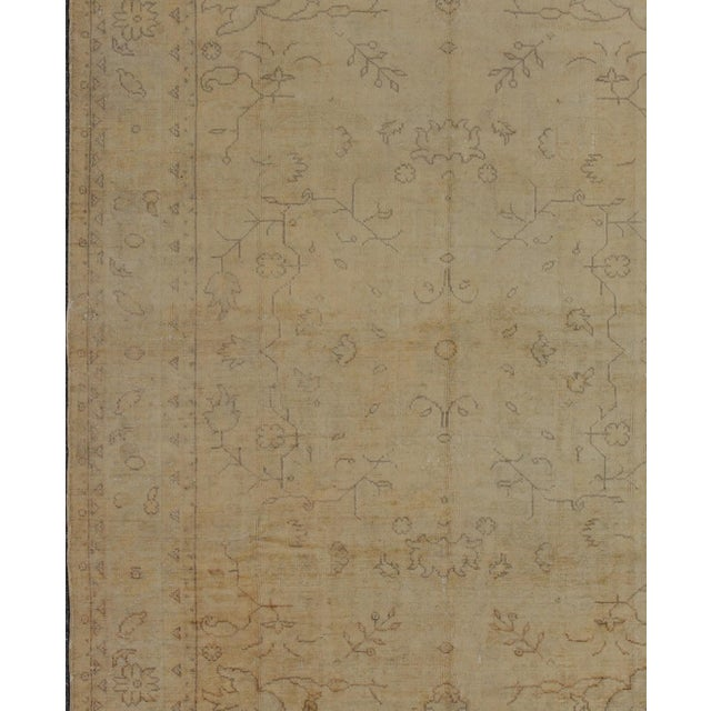 Early 20th Century Antique Turkish Oushak Rug - 9′5″ × 12′10″ For Sale - Image 4 of 9