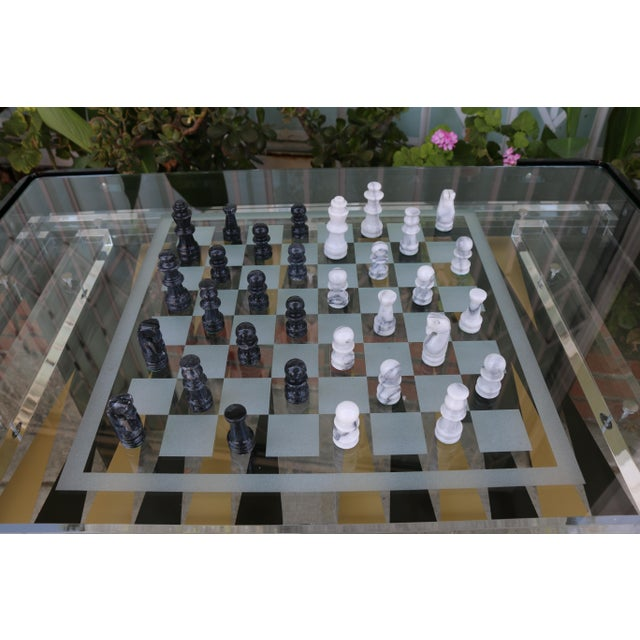 Vintage Lucite Backgammon and Chest Game Table For Sale - Image 4 of 13