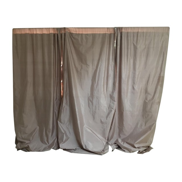 Serena & Lily Silk Shantung Blush Drapes - S/3 For Sale