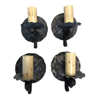 Vintage 1940s Spanish Style Wall Sconces - Set of 4 For Sale