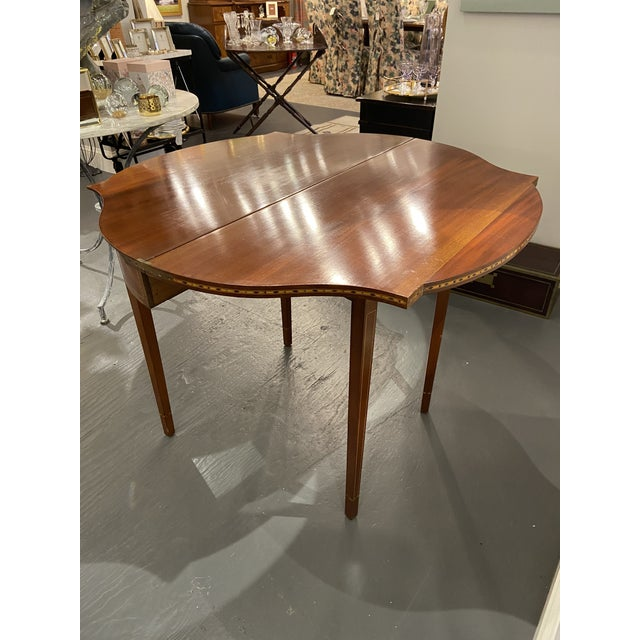1930s Hepplewhite Mahogany Card Table For Sale - Image 4 of 11