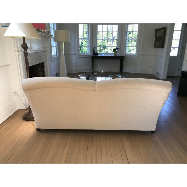 """2000s George Smith """"Full Scroll Arm Signature Sofas"""" - A Pair For Sale - Image 5 of 9"""