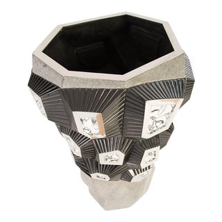 Phillips Collection Black Resin, White Marble Resin, Grey Stone Cast, Planter S/S
