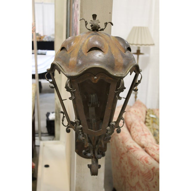 Metal Metal and Copper Sconces - A Pair For Sale - Image 7 of 10