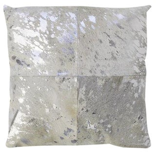 Silver Cowhide Pillow For Sale