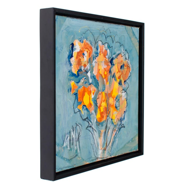 "Offered is an oil on canvas by Suzanne McCullough Plowden titled ""Orange Flowers"" 2016. Signed lower left, SMP Sight 12 by..."