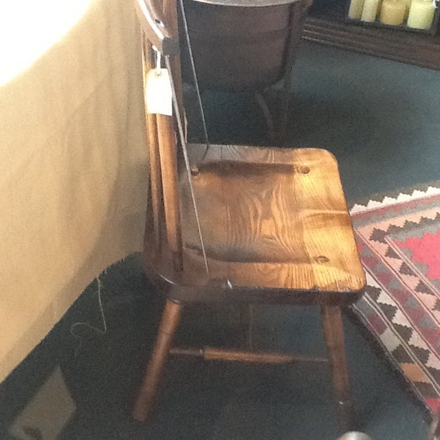 Irish Primitive Windsor Side Chairs - Set of 6 For Sale - Image 4 of 5