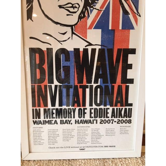 Vintage Hawaiian Big Wave Artwork, Framed For Sale - Image 4 of 8