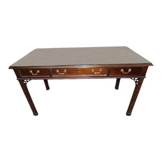 Vintage Councill Mahogany Chinese Chippendale Desk For Sale