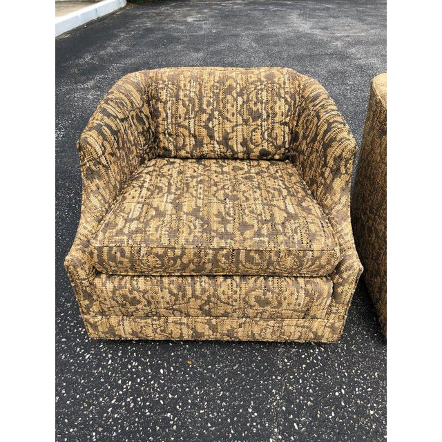 """Mid-Century Modern Bernhardt """"Flair"""" Club Chairs - a Pair For Sale - Image 3 of 11"""