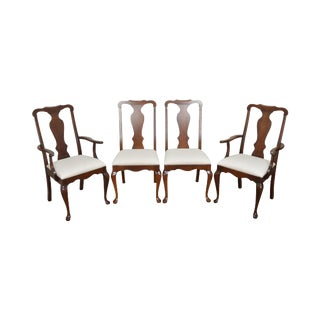 Pennsylvania House Solid Cherry Queen Anne Style Dining Chairs - Set of 4