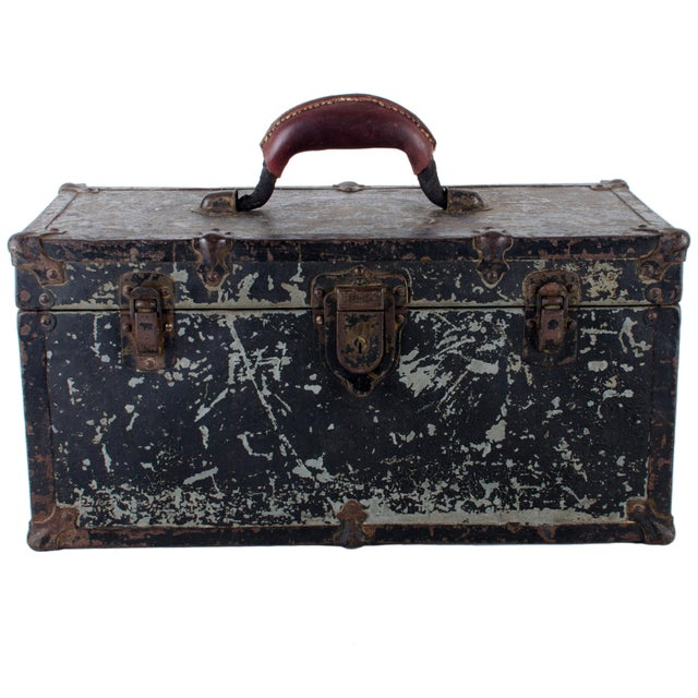 Industrial Vintage Union Tool Box For Sale - Image 3 of 10