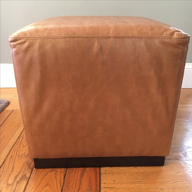 Williams-Sonoma Home Robertson Leather Ottoman - Image 4 of 6