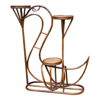 1950s Bentwood Swan Design Plant Stand For Sale