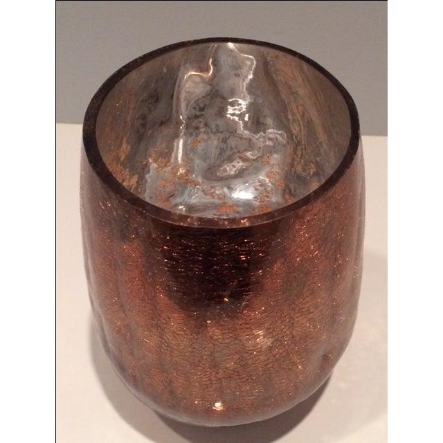 Modern Mercury Gold Glass Hurricane Candle Holder - Image 3 of 6