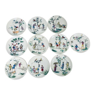"Choisy-Le-Roi Terre De Fer ""Game"" Plates - Set of 10 For Sale"