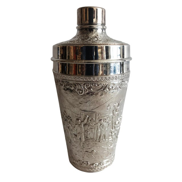 19th C. Barbour Repoussed Cocktail Shaker For Sale