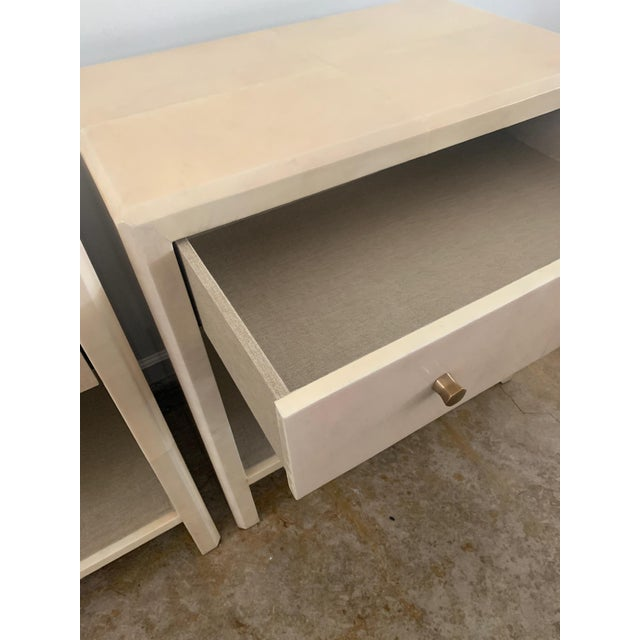 Polished Faux Vellum Nightstands From Made Goods - a Pair For Sale In Los Angeles - Image 6 of 13
