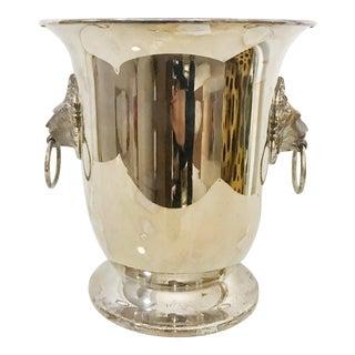 Vintage Sheffield Silver Co. Lion Head Ice Bucket For Sale