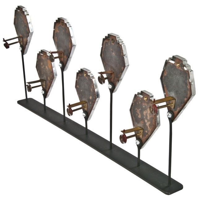 Industrial Seven Temperature Gauges on Iron Display Stand For Sale - Image 3 of 3