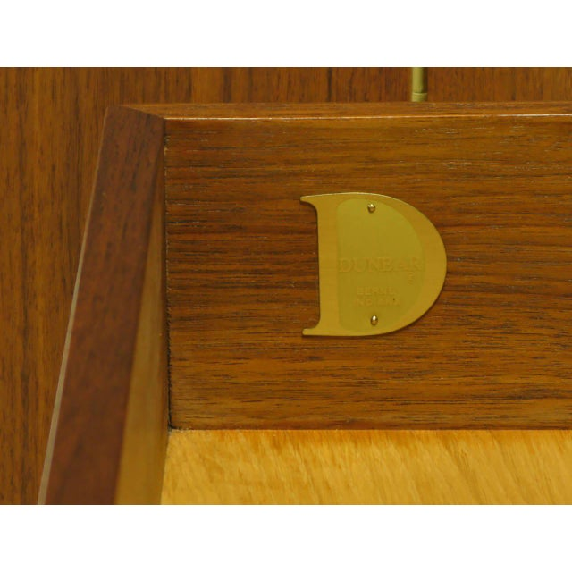 Dunbar Walnut and Cane Credenza by Edward Wormley For Sale - Image 10 of 10