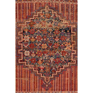 """Vintage Persian Rug, 4'0"""" X 5'0"""" For Sale"""