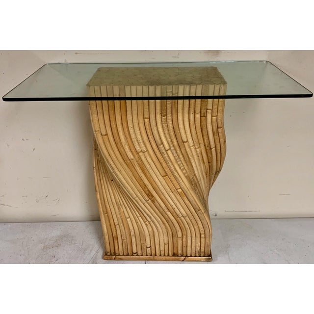 Pair of Pencil Bamboo Modern Console Tables Att. To Crespi For Sale In Atlanta - Image 6 of 10
