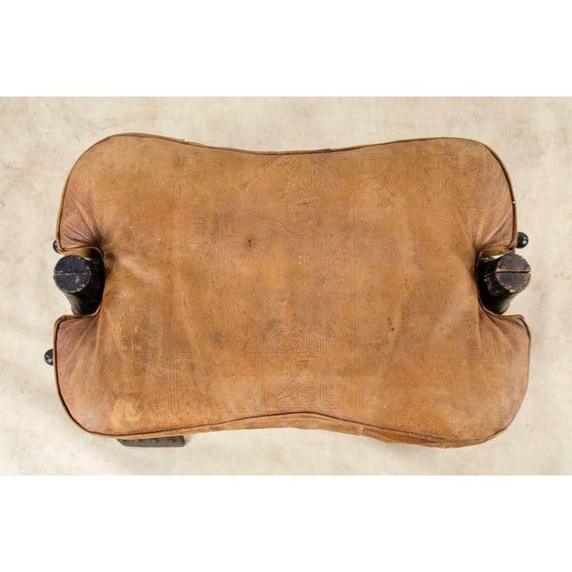 Animal Skin Vintage Egyptian Camel Saddle Stool For Sale - Image 7 of 13