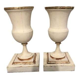 Italian Urns in Wood - a Pair For Sale