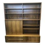 Image of 1970s Mid Century Modern Teak Bookcase For Sale